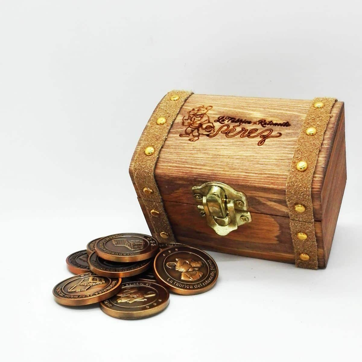 Baúl del tesoro del Ratoncito Pérez en color madera