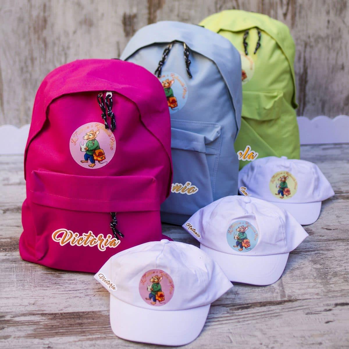 Mochilas y gorras personalizadas Ratoncito Pérez